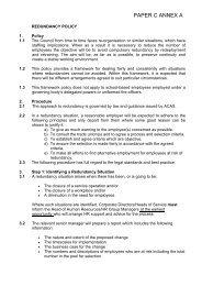 2011 February 10 Item 6 Redundancy Policy Report Annex A