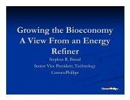 Stephen R. Brand - Bioeconomy Conference 2009