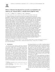 Effects of biomass-burning-derived aerosols on precipitation and ...