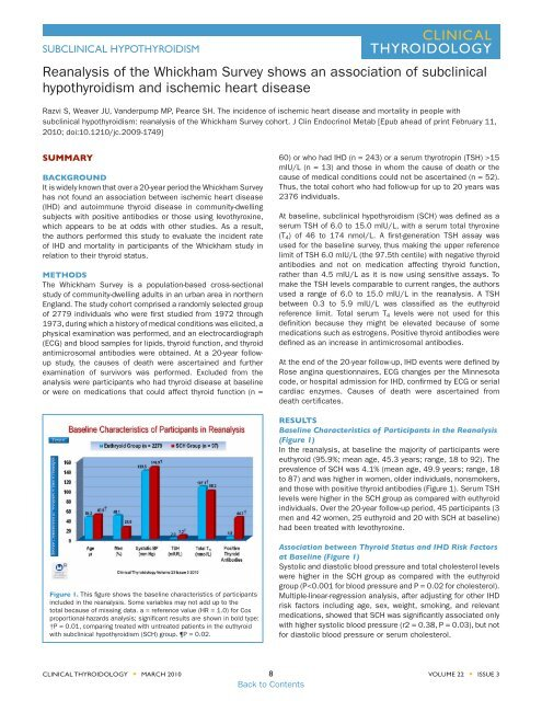 Subclinical Hypothyroidism American Thyroid Association