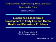 Plenary Presentation - Children's Mental Health Ontario
