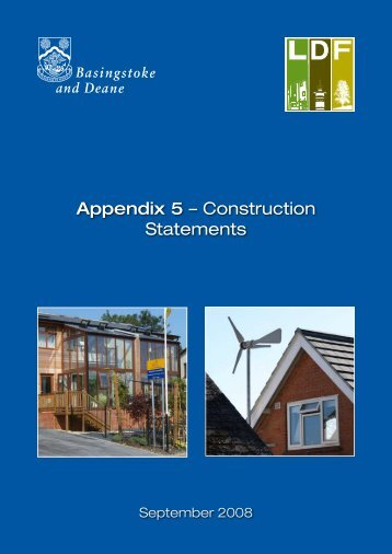 Appendix 5 – Construction Statements - Basingstoke and Deane ...