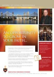 An opportunity to grow in your faith... - Archdiocese of Brisbane