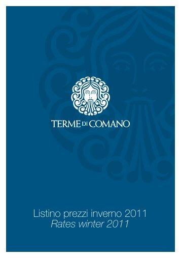 Listino prezzi inverno 2011 Rates winter 2011 - Trentino