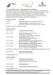 Programm 175 Jahre VSAG - Rheinfelden Schulen