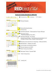 Event and Training Schedule for 2009-2010