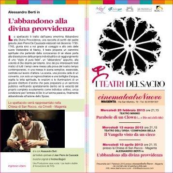 Scarica in pdf la presentazione completa dell ... - Progetto Culturale