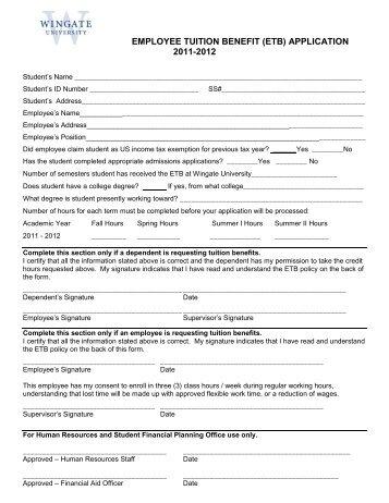 Hyde County Schools Employee Tuition Reimbursement Application
