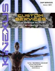 download the Kinase Inhibitor Customer Info Package - Kinexus ...