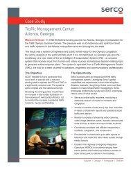 Traffic Management Center Atlanta, Georgia Case Study - Serco