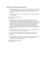 Besluiten van het faculteitsbestuur augustus 2007