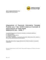 Condizioni di polizza 1 e informativa - Gs.bz.it
