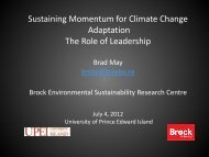 Sustaining Momentum for Climate Change Adaptation - UPEI Projects