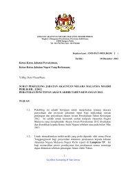 Surat Pekeliling JANM Perlis