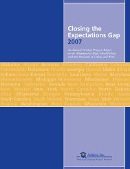 Closing the Expectations Gap 2007 - Achieve