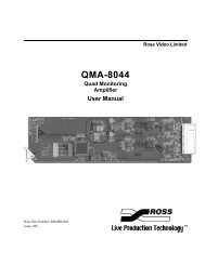 QMA-8044 Quad Monitoring Amplifier User Manual - Ross Video