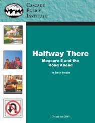 Halfway There: Measure 5 and the Road Ahead - Cascade Policy ...