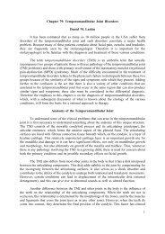 1 Chapter 79: Temporomandibular Joint Disorders ... - Famona Site