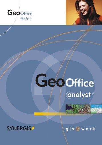 GeoOffice analyst Produktflyer