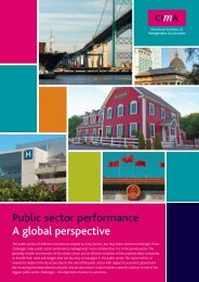 Public sector performance A global perspective - e-Finanse
