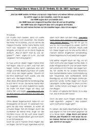 Predigt Trinitatis, 03. Juni 2007, 4. Mose 6, 22-27 - Ispringen.elkib.de