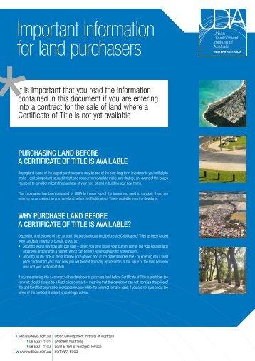 brochure - Urban Development Institute of Australia