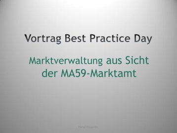Vortrag Best Practice Day - Stadtmarketing Austria
