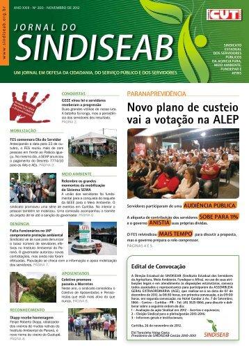 NOvembrO De 2012 - SindiSeab
