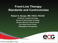 Front-Line Therapy: Standards and Controversies - Educational ...