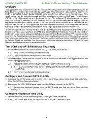 LCD+ and SitePlayer Serial Redirector - NetMedia