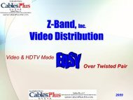 Z-Band, Video Distribution - Cables Plus USA