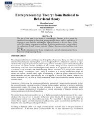 Entrepreneurship Theory: from Rational to Behavioral theory