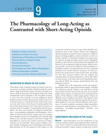 The Pharmacology of Long-Acting as Contrasted with Short-Acting ...
