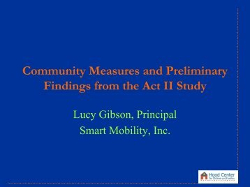 Community Assessments by Lucy Gibson, MS