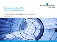 Capital Markets Day 2011 Focus on Facility Services - Bilfinger