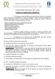 CONCURSOVESTIBULAR - 2 0 0 9 8º EDITAL DE CONVOCAÇÃO ...