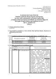PAZIŅOJUMS PAR LĒMUMU Publisko iepirkumu likuma 8.panta ...