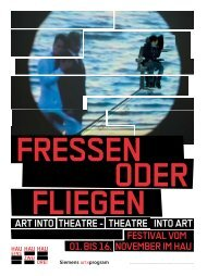 theatre into art - Christoph Schlingensief