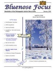 January 2006 - Photographic Guild of Nova Scotia