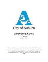 ZONING ORDINANCE - City of Auburn