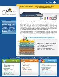 CR100ia Datasheet ( PDF ) - Cyberoam