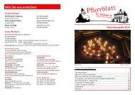 Pfarrblatt Advent 2012 - Kath. Pfarrei Sankt Hubertus
