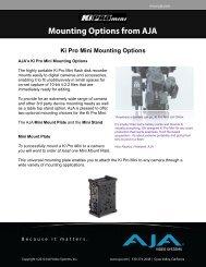 Ki Pro Mini Mounting Options - Video Data
