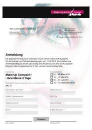 Anmeldung Make-Up Compact I - Grundkurs 3 Tage
