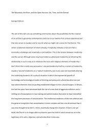 Professor George Pattison, Thursday 15 November 2012