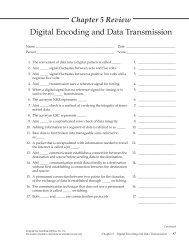 Chapter 5 Review Worksheet