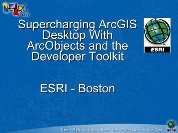 ArcGIS 9.1 - Northeast Arc Users Group