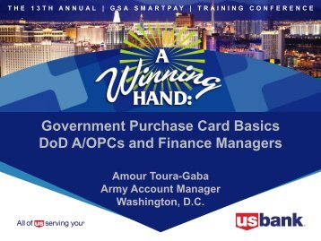 Government Purchase Card Basics Dod A/Opcs and Finance ...