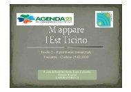 La presentazione dei lavori (4Mb) - Agenda 21 Est Ticino