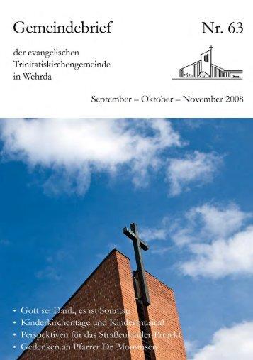 Nr. 63: September - Oktober - November 2008 - Evangelische ...